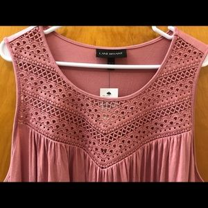Lane Bryant 18/20 dress, pink with lace detail NWT